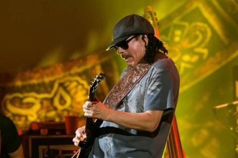 Carlos Santana performs at the Hard Rock Hotel in Las Vegas in 2010. (Las Vegas Review-Journal)
