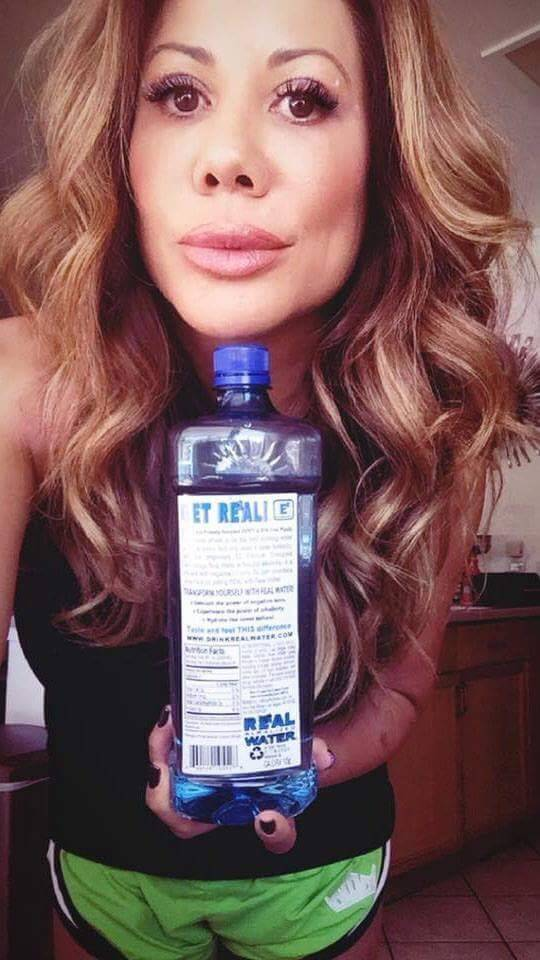 Mixed Martial Arts fighter and announcer Lisa King received free bottles of Real Water in excha ...