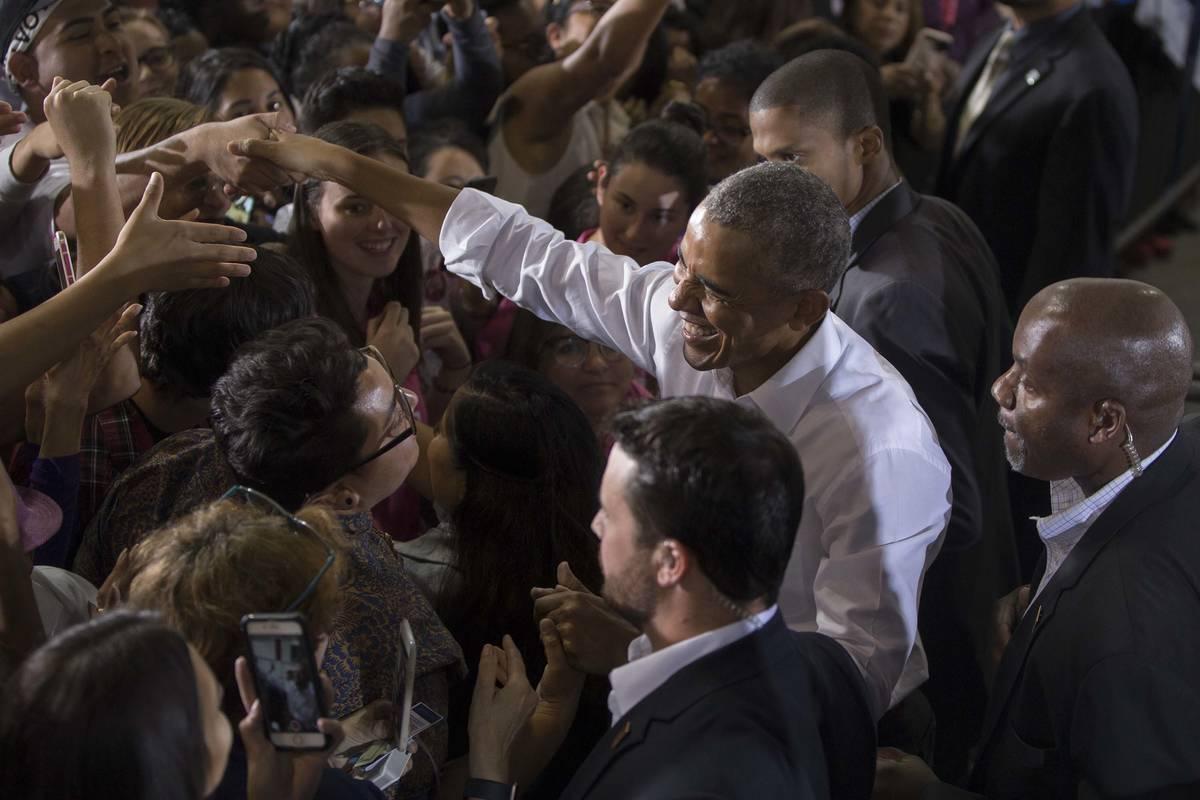 Former President Barack Obama. (Benjamin Hager/as Vegas Review-Journal