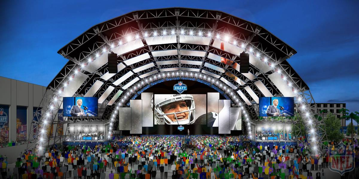 The main NFL Draft stage is planned for the Caesars Forum next to the Linq in Las Vegas. (NFL)