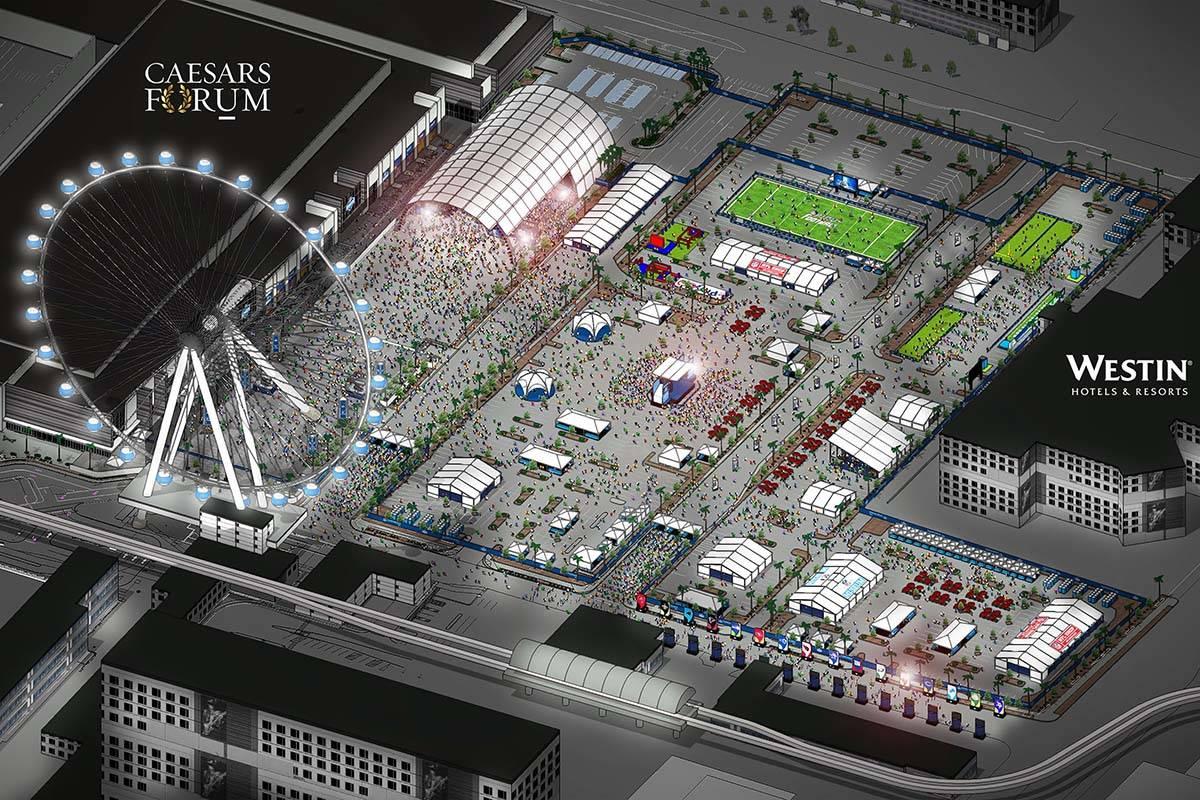 Rendering of plans for the 2020 NFL Draft in Las Vegas. (NFL)