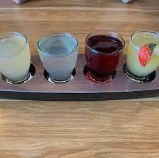 Broken Yolk Cafe serves a mimosa flight on a paddle. (Instagram)