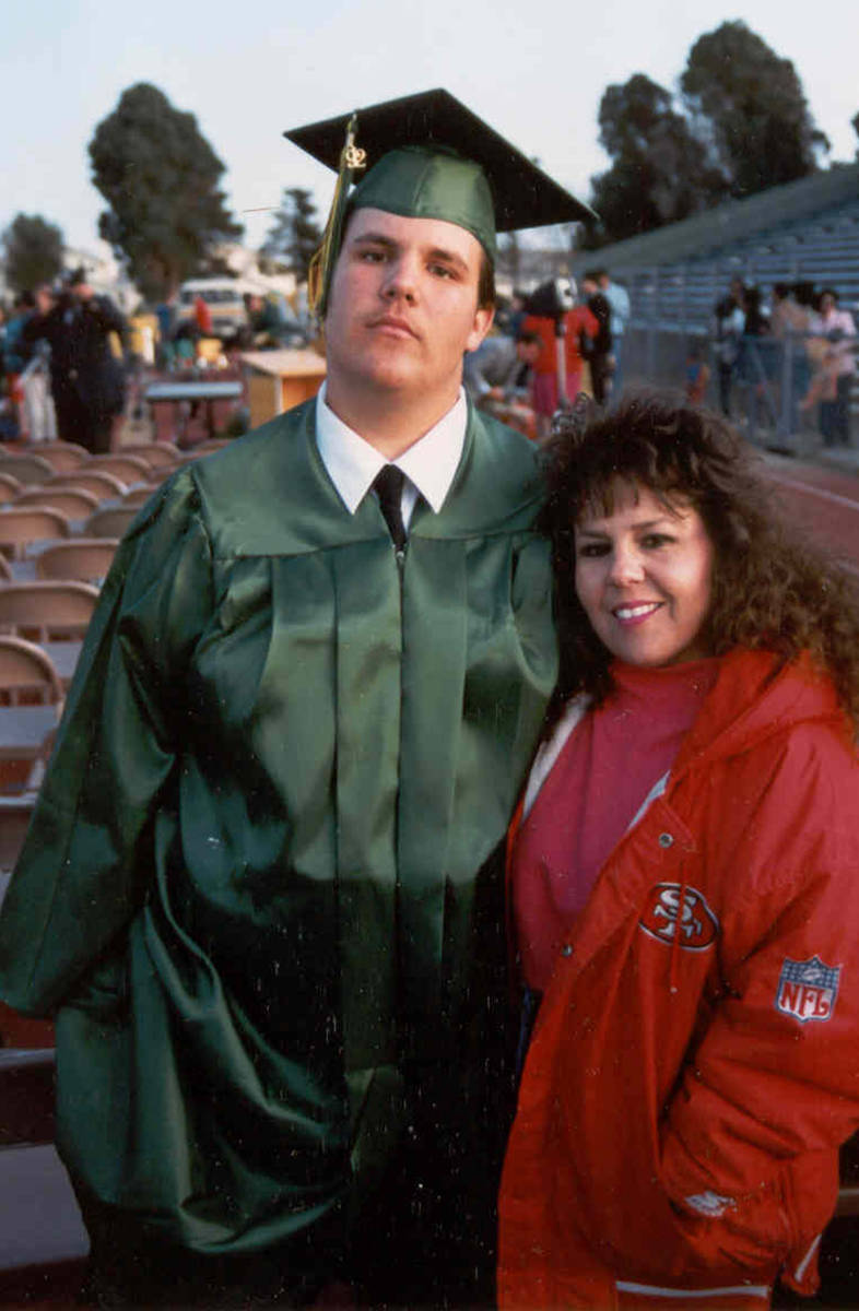 Gary Selby Jr. and his mother Stephanie. (Holly Bayol)
