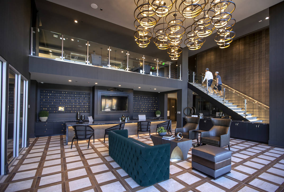The office and lobby area in Elysian at Tivoli, a newly built apartment complex across from Tiv ...