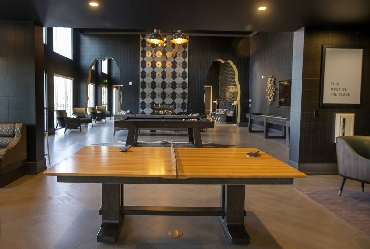 A gaming space with ping pong and billiards in Elysian at Tivoli, a newly built apartment compl ...