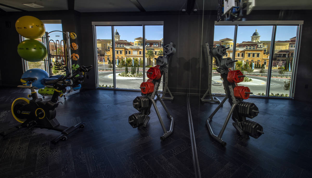 One of several exercise rooms located on the second floor in Elysian at Tivoli, a newly built a ...