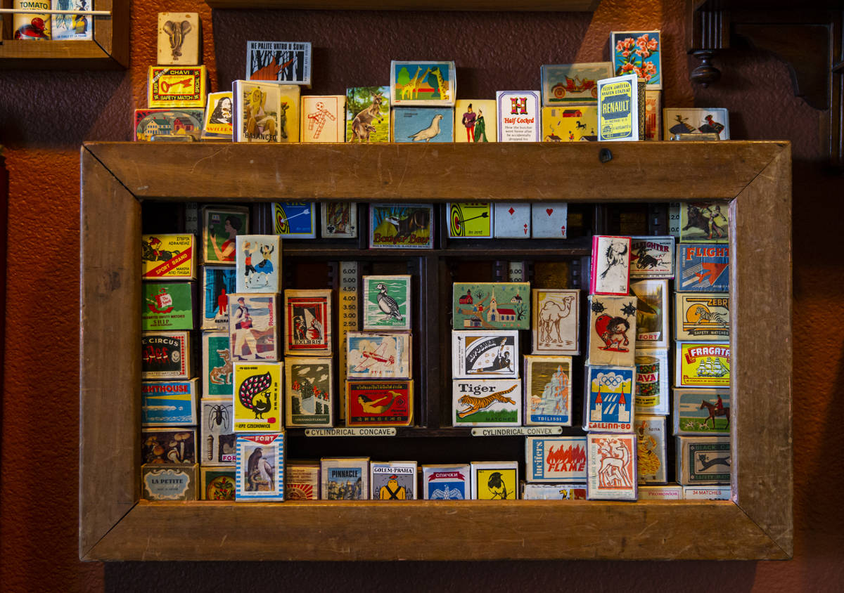 Collected matchboxes are displayed at the Office of Collecting & Design, a museum and studi ...