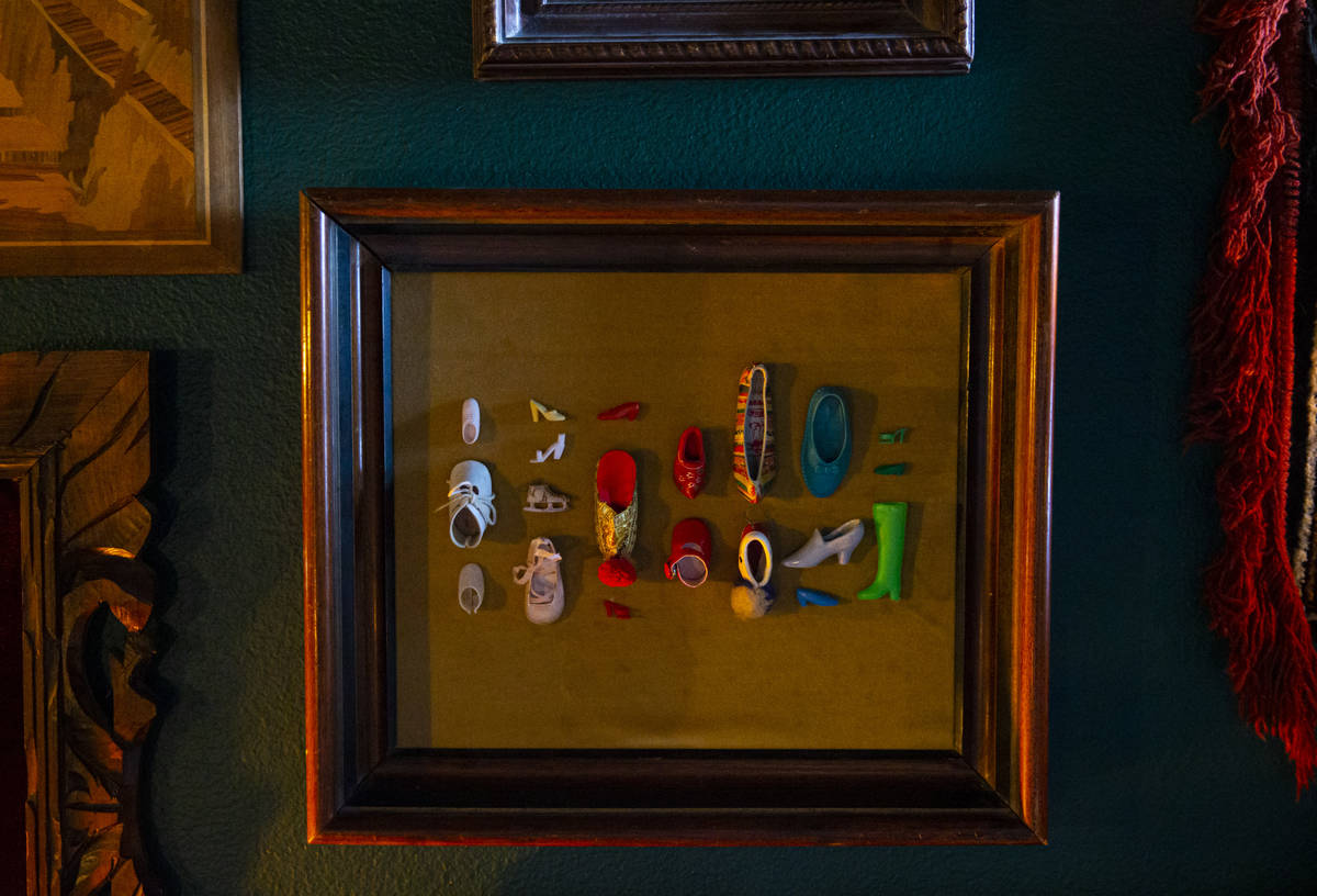 Collected miniature shoes are displayed at the Office of Collecting & Design, a museum and ...