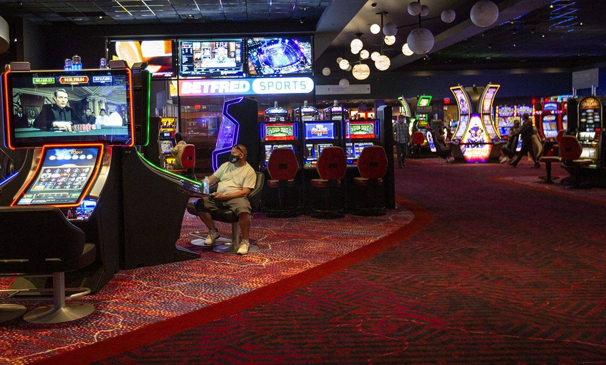The Mohegan Sun Casino is open at Virgin Hotels Las Vegas on Friday, April 30, 2021, in Las Veg ...