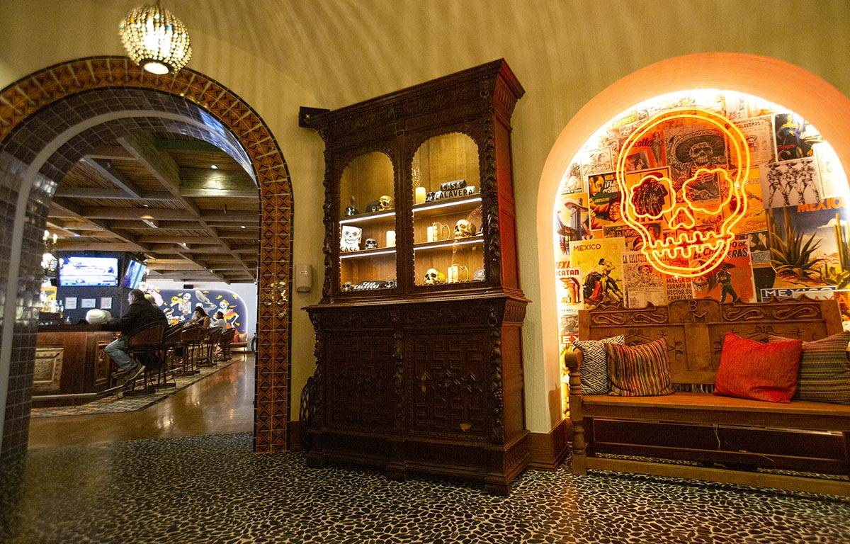The entrance to Casa Calavera restaurant at Virgin Hotels Las Vegas on Friday, April 30, 2021, ...