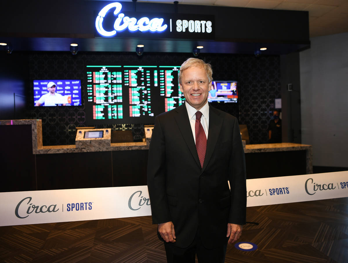 The Pass Casino Owner Joe DeSimone attends the grand opening of Derek Stevens' Circa Sports Spo ...