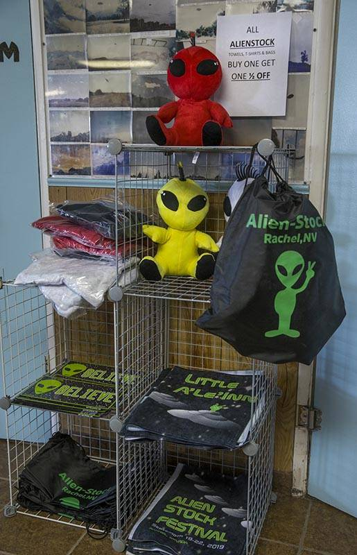 Alienstock merchandise can still be purchased at the Little A'Le'Inn which is open for business ...