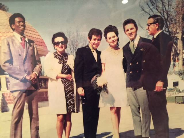 Musician Bobby Morris' 1968 wedding in Mexico City. From left: Judith Exner, Eddie Fisher, Dian ...