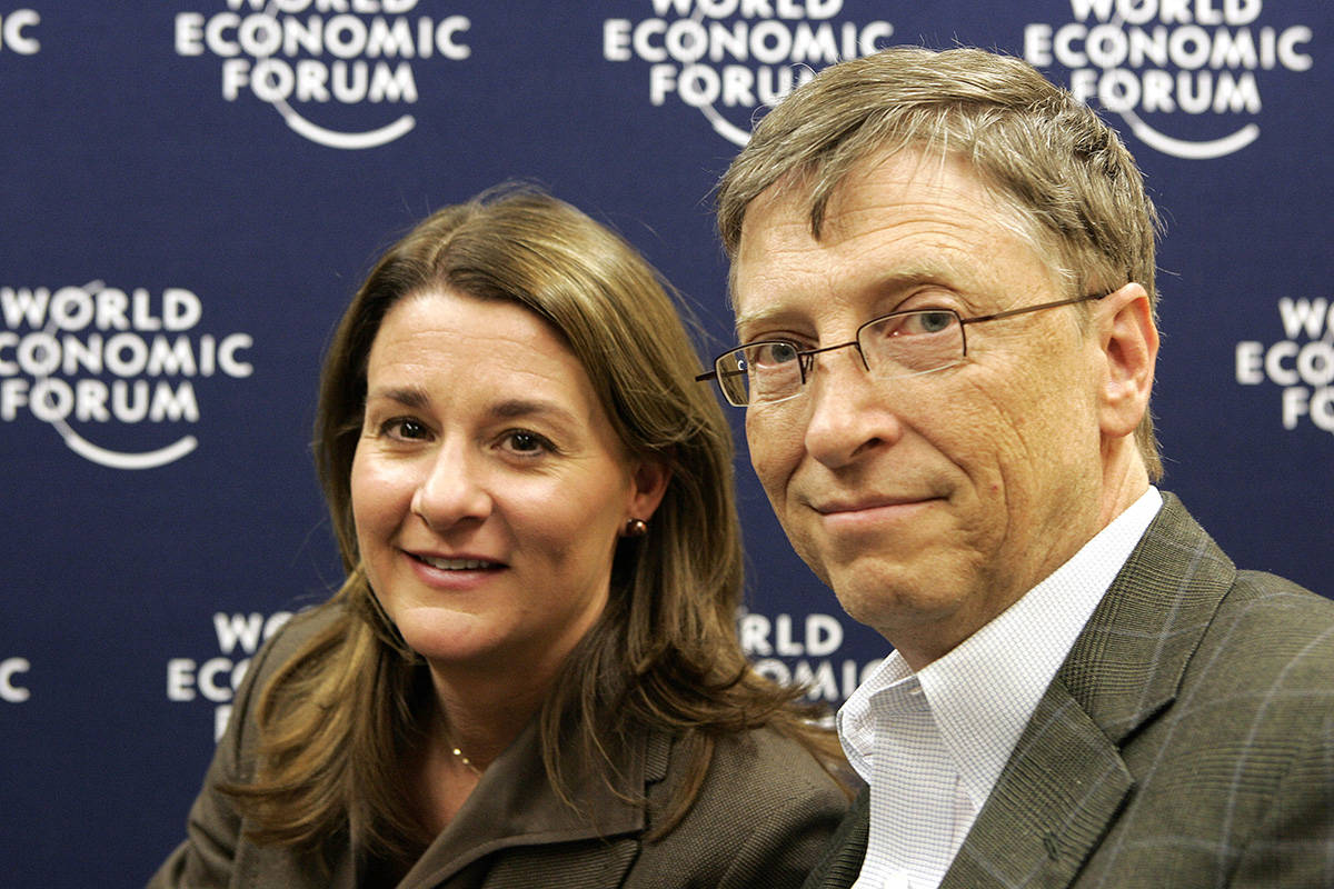 FILE - In this Jan. 30, 2009 file photo, co-chairs of the Bill and Melinda Gates Foundation, US ...
