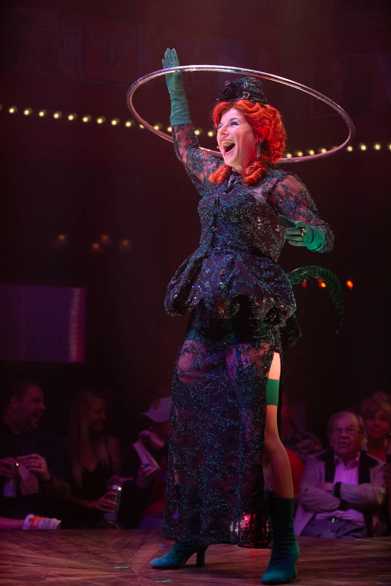 """Petra Massey as Boozy Skunkton, a role she took over as """"Atomic Saloon Show"""" opened at The Vene ..."""