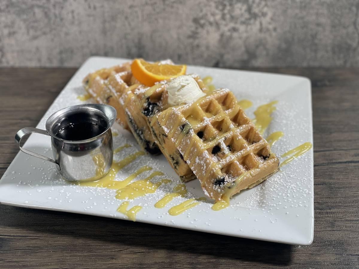 Blueberry waffle at Hash House A Go Go. (Hash House A Go Go)