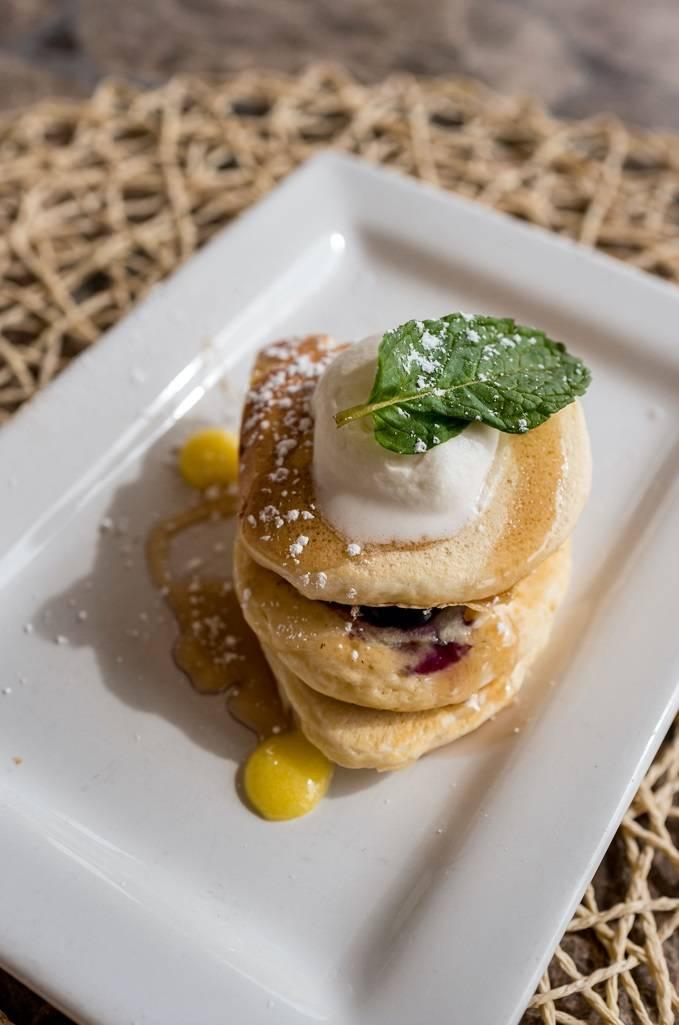 Blueberry-lemon pancakes at Reflection Bay. (Reflection Bay)