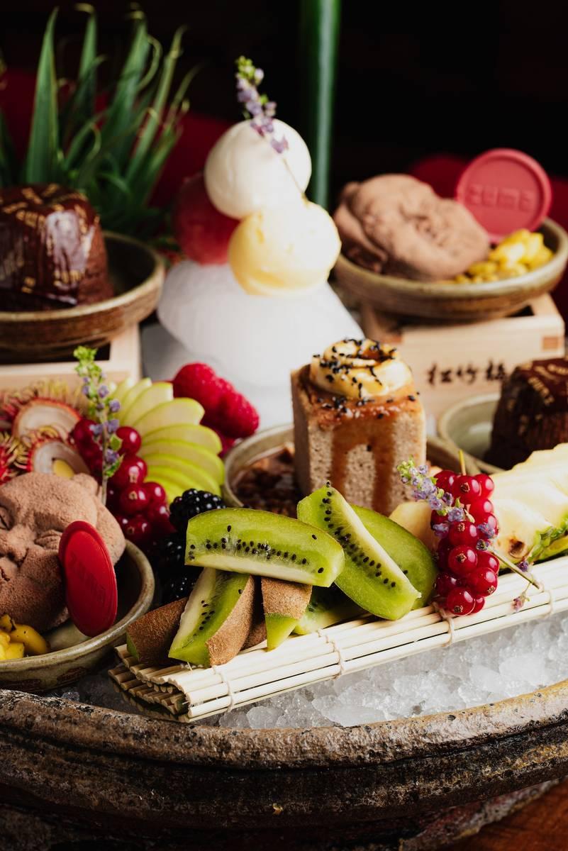 The deluxe dessert platter at Zuma. (Rusne Draz photos)
