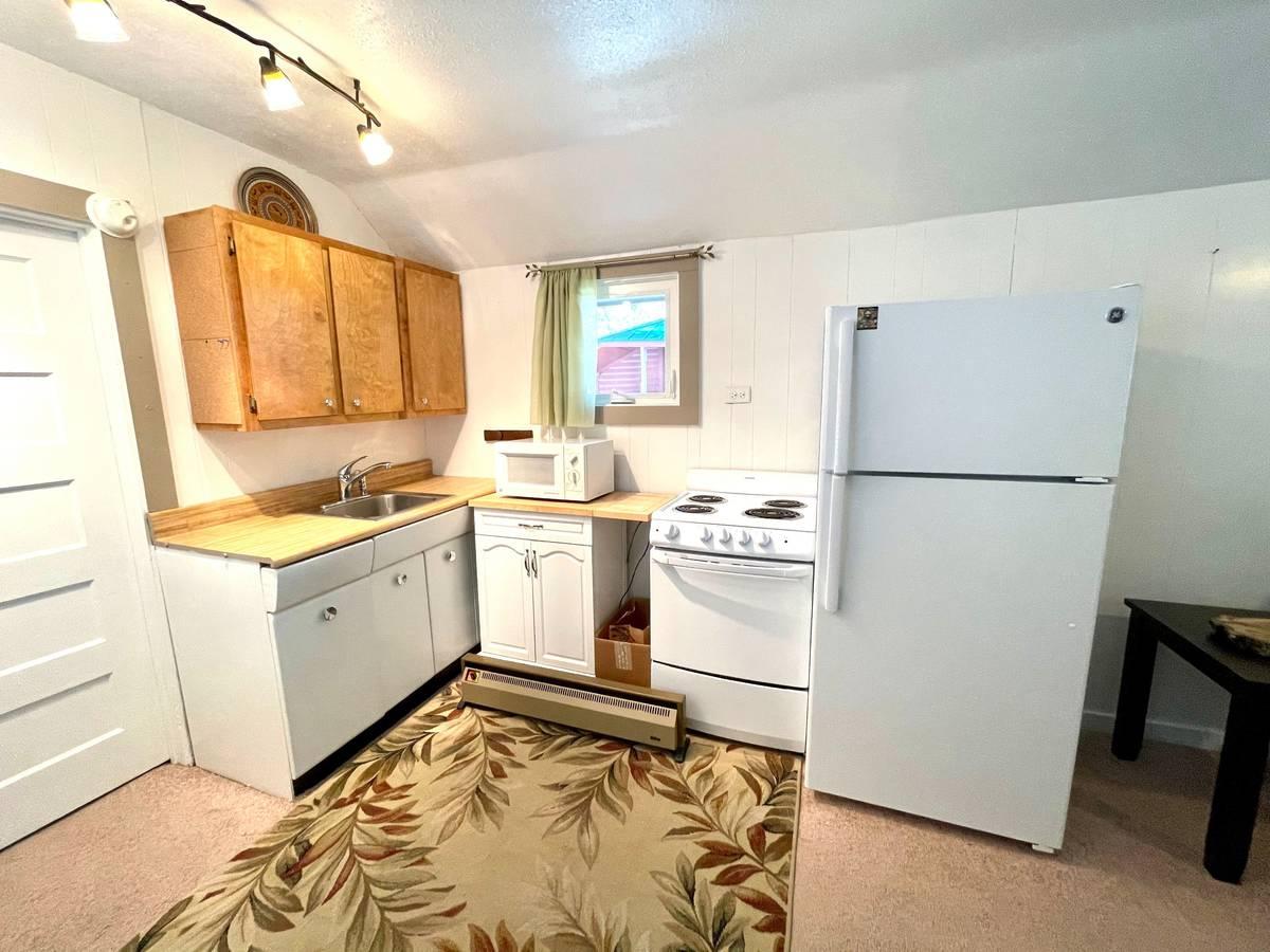 The kitchen of 4620 Aspen Avenue. (Katie Corr)