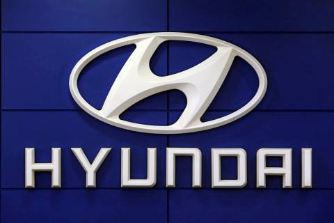 FILE - This July 26 2018 file photo shows the logo of Hyundai Motor Co. in Seoul, South Korea. ...