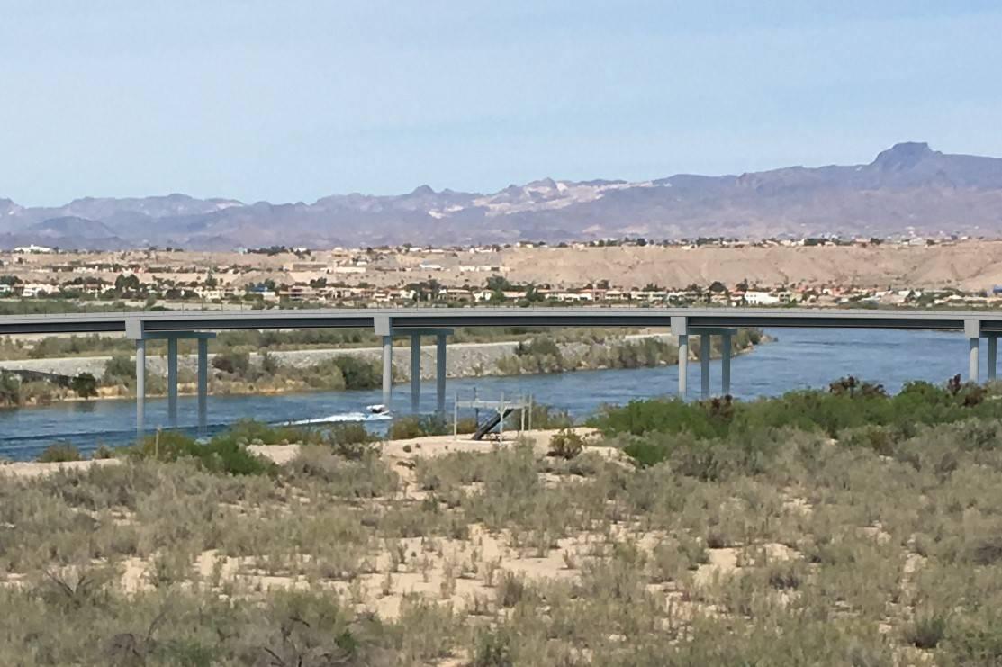 Artist's rendering of the planned bridge linking Laughlin and Bullhead City, Arizona.