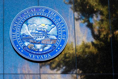 Signage at the Nevada State Legislature Building at the state Capitol complex on Sunday, Jan. 1 ...