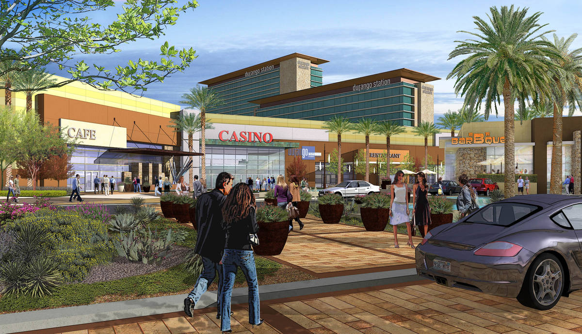 An early rendering courtesy of Station Casinos shows the proposed Durango Station hotel-casino ...