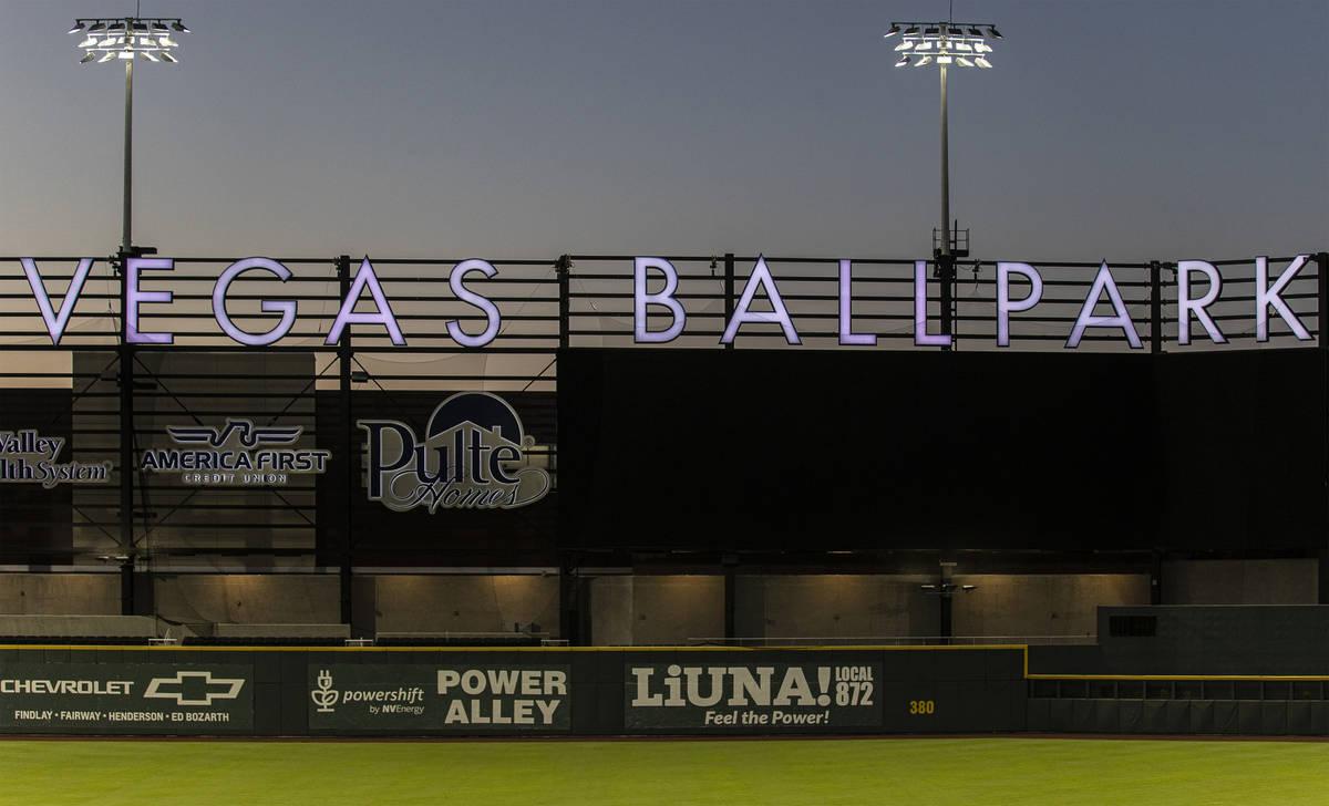 Las Vegas Ballpark on Tuesday, May 4, 2021, in Las Vegas. (Benjamin Hager/Las Vegas Review-Jour ...