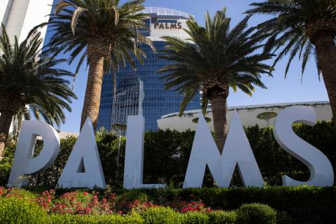 The Palms hotel-casino in Las Vegas, Tuesday, May 4, 2021. (Erik Verduzco / Las Vegas Review-Jo ...