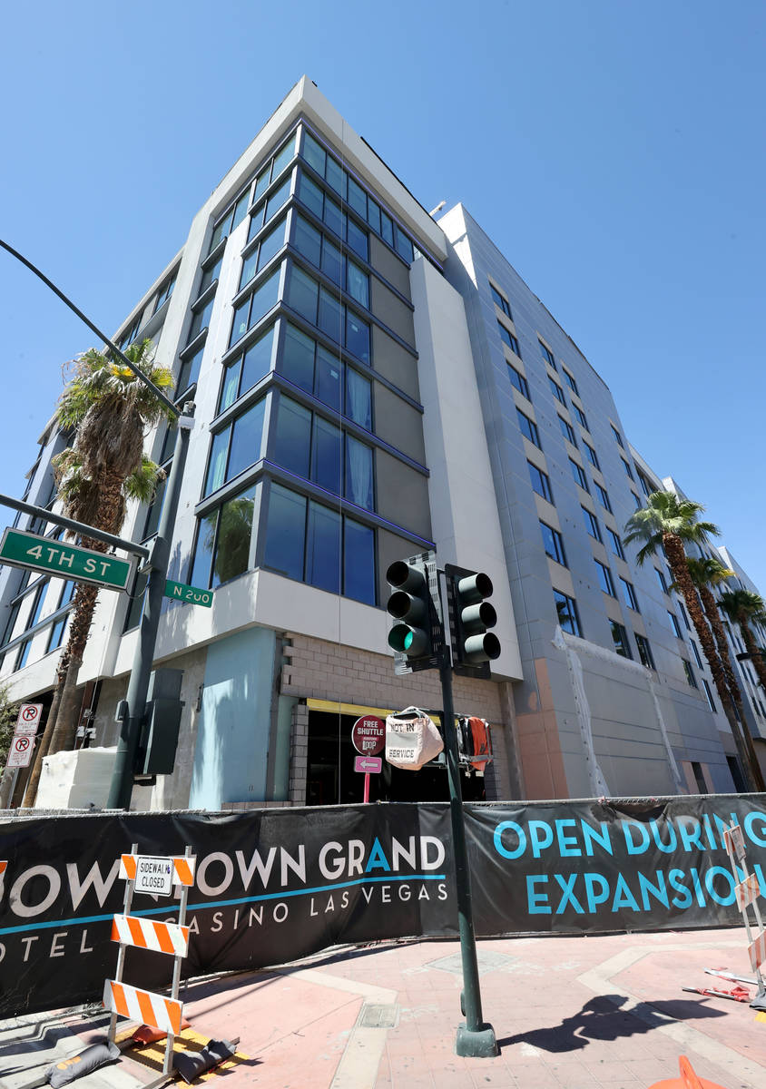 The Gallery Tower expansion at the Downtown Grand in Las Vegas on July 31, 2020. (K.M. Cannon/L ...