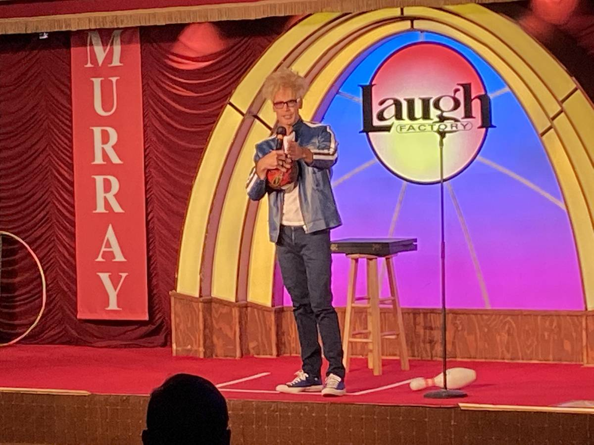 Murray Sawchuck is shown onstage at Laugh Factory at the Tropicana on Friday, Dec. 27, 2020. (J ...
