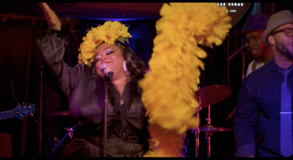 Las Vegas entertainer Skye Dee Miles is shown in a screen grab from a scene from in the Netflix ...
