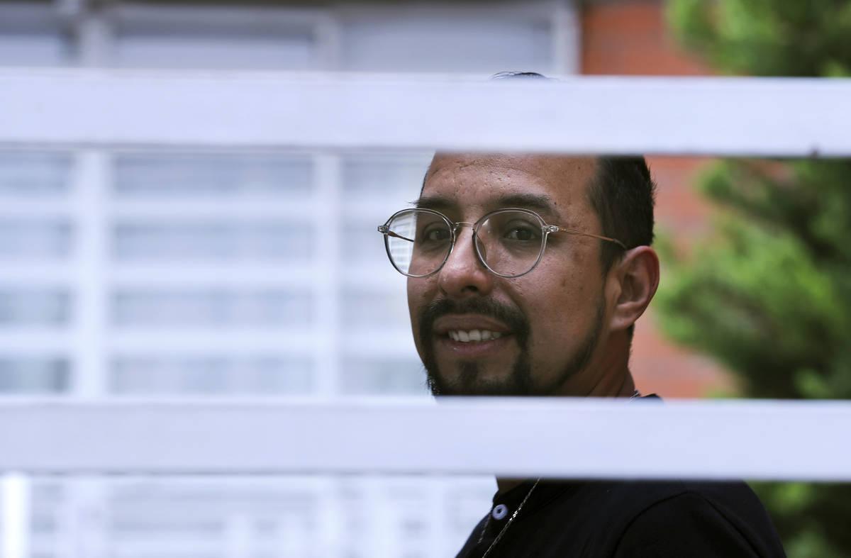 Erik Bravo, 34, a survivor of Monday's subway collapse, poses for a photo in Mexico City, Thurs ...