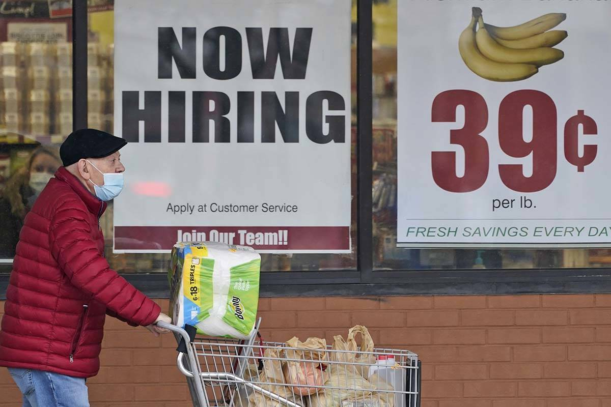 In this Friday, Jan. 8, 2021 file photo, A man walks out of a Marc's Store in Mayfield Heights, ...