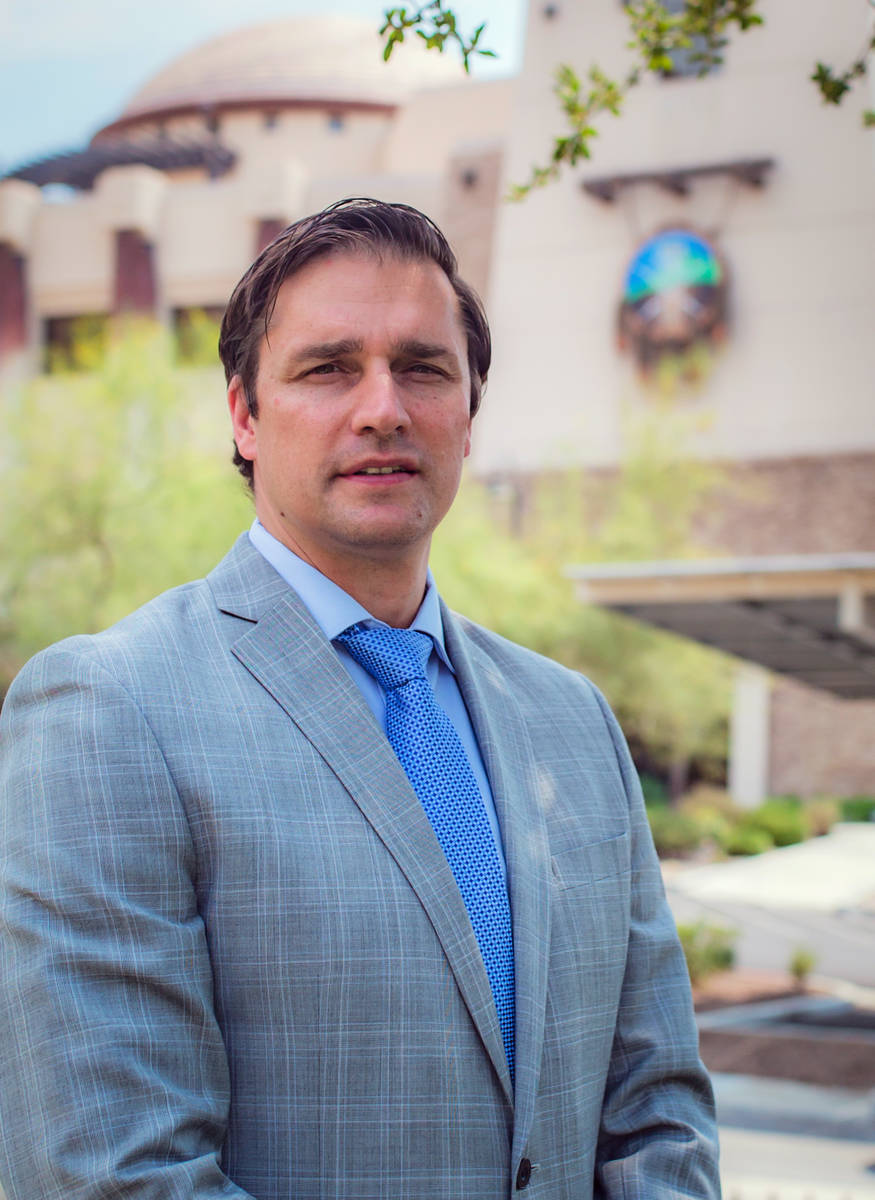Laurens Vosloo, Chief Executive Officer of the San Manuel Band of Mission Indians. (Courtesy, S ...