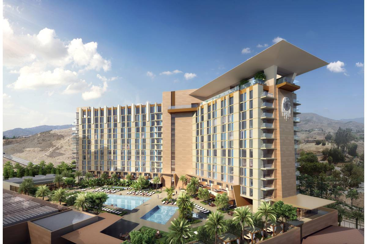 A rendering of the San Manuel casino expansion, which includes expanded gaming space, food and ...