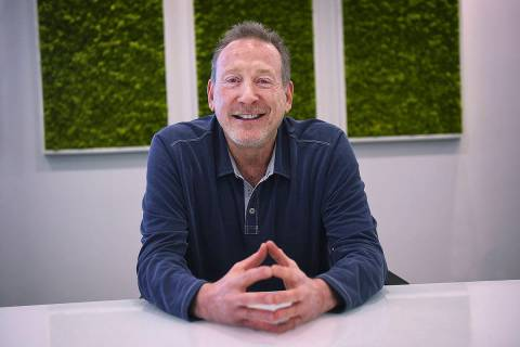 Jeffrey Berns, founder and CEO of Blockchains, poses for a portrait at their corporate headquar ...