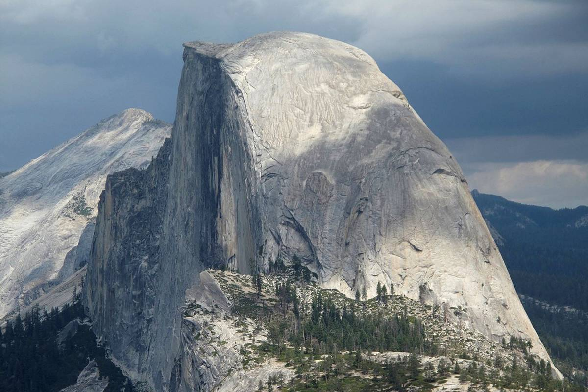 This August 2011 file photo shows Half Dome and Yosemite Valley in a view from Glacier Point at ...