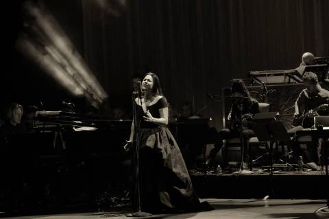 Recording artist Amy Lee of Evanescence performs as the band kicks off its tour in support of t ...