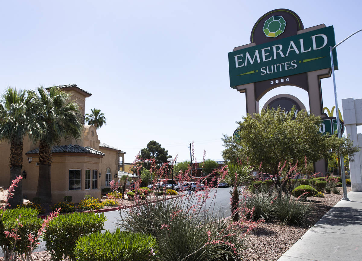 Emerald Suites shown on Elm Drive and Paradise Road where Amari Nicholson, a child missing in t ...