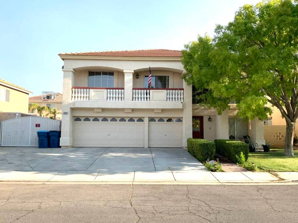 The front exterior at 2005 Golden Trumpet Ave. in Las Vegas. (Erika Yanez-Olave)