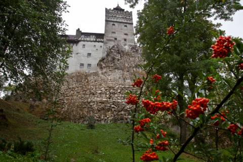 FILE - In this Saturday, Oct. 8, 2011 file picture, the Gothic Bran Castle, better known as Dra ...