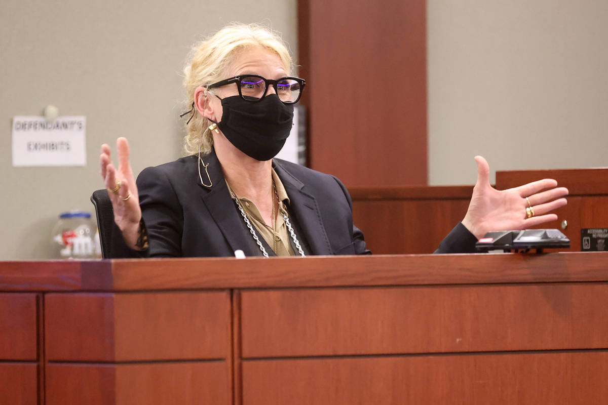 Michelle Dell, owner of Hogs & Heifers testifies during a civil trial at the Regional Justi ...