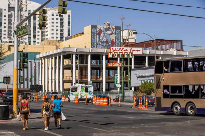 Redevelopment construction by the Dapper Companies continues on the multi-use commercial proper ...