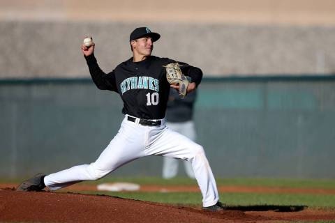 Silverado pitcher Chris Cortez, seen in 2019. (K.M. Cannon/Las Vegas Review-Journal)