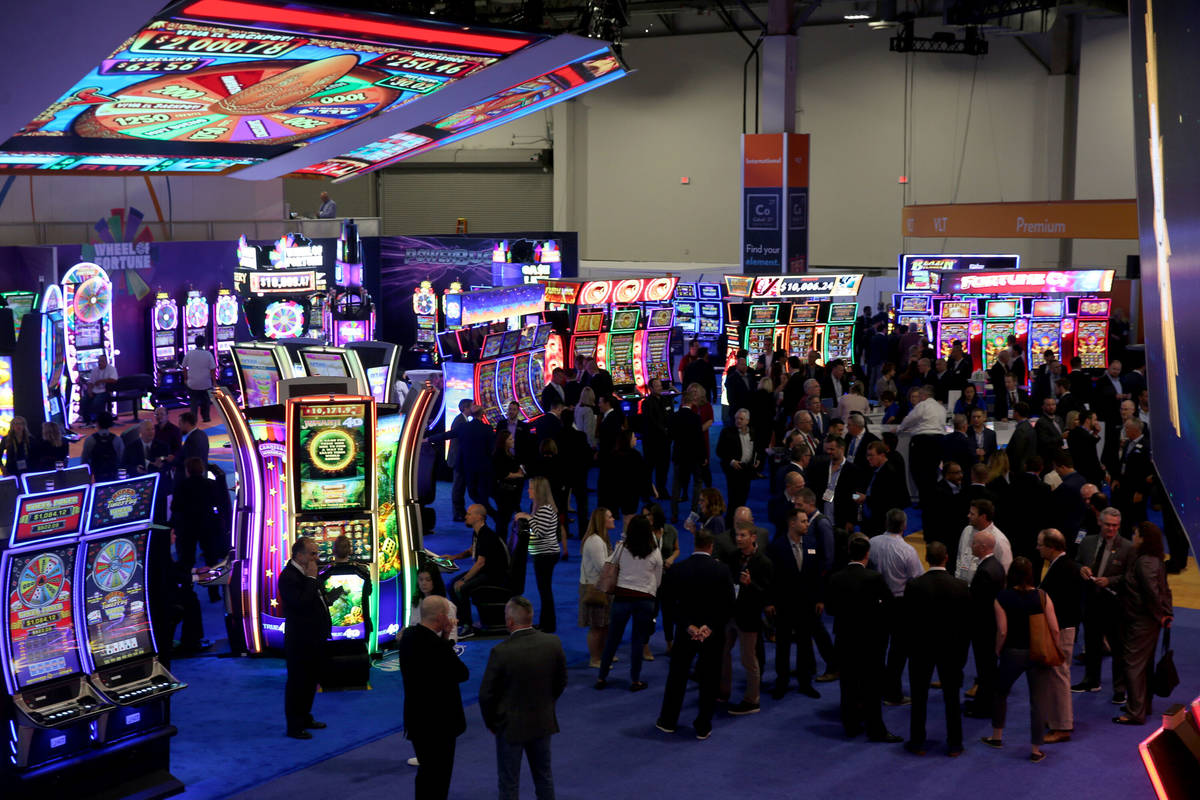 The IGT booth at the 2019 Global Gaming Expo at the Sands Expo and Convention Center in Las Veg ...