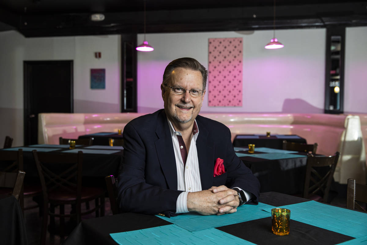 Tom Michel, president of The Nevada Room, poses for a portrait at the venue at Commercial Cente ...