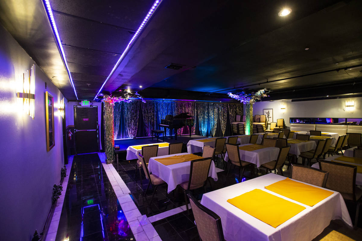 An interior view of the supper club showroom at The Nevada Room at Commercial Center in Las Veg ...