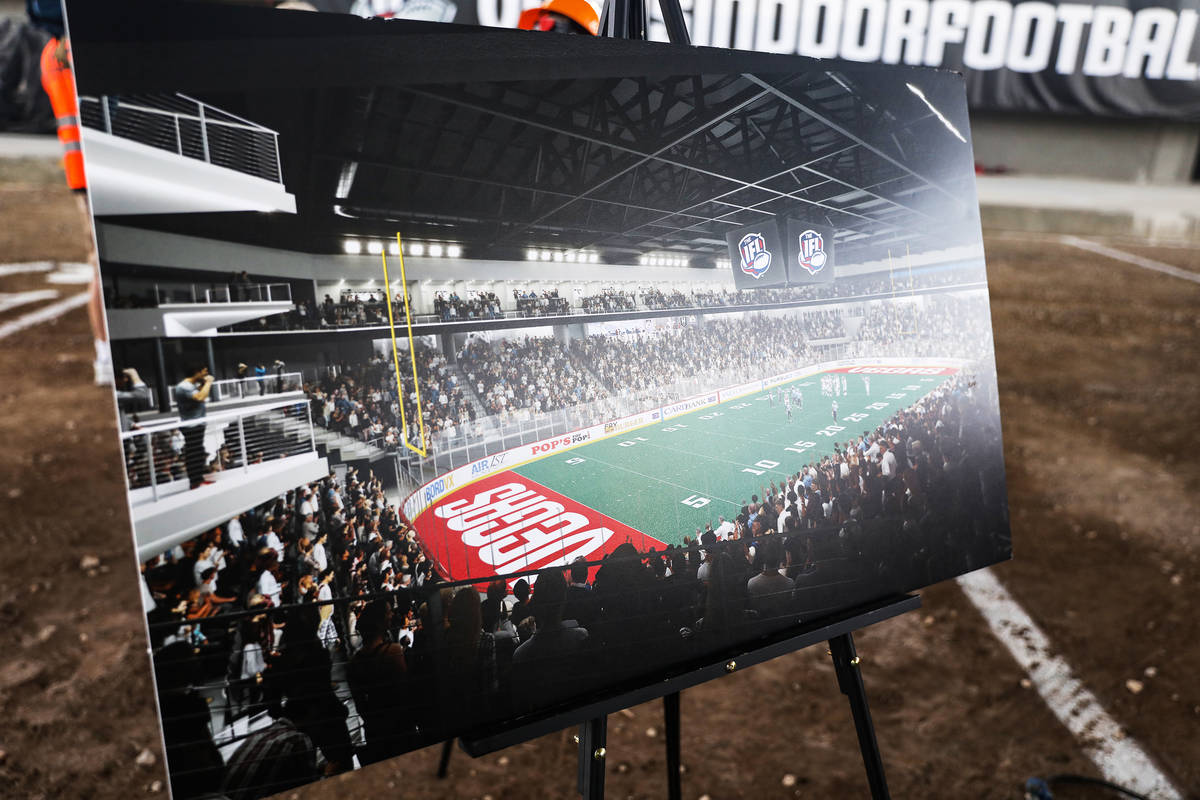 A rendering of the future Dollar Loan Center, a 6,000 seat multi-purpose venue, at an event to ...