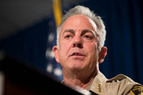 Clark County Sheriff Joe Lombardo. (Erik Verduzco/Las Vegas Review-Journal)
